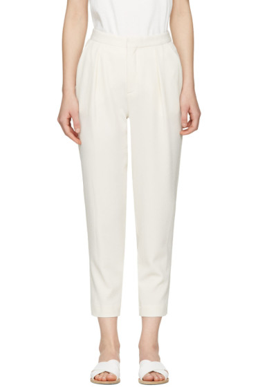 See by Chloé - White Tapered Trousers