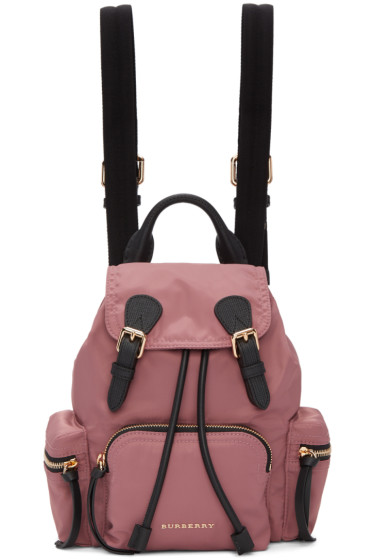 Burberry - Pink Small Nylon Backpack