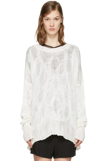 Ann Demeulemeester - Off-White Heavy Knit Sweater