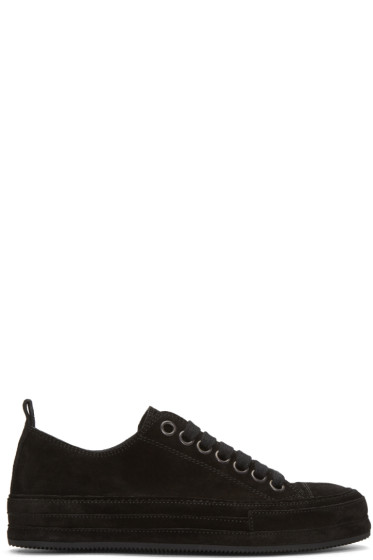 Ann Demeulemeester - Black Suede Sneakers