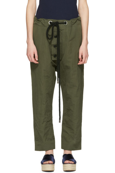 Marni - Green Linen Drawstring Trousers