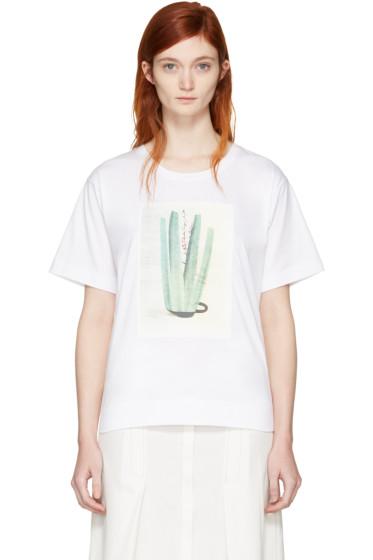 Marni - White & Green Ruth van Beek Edition Graphic T-Shirt