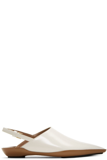 Marni - Off-White Sabot Loafers