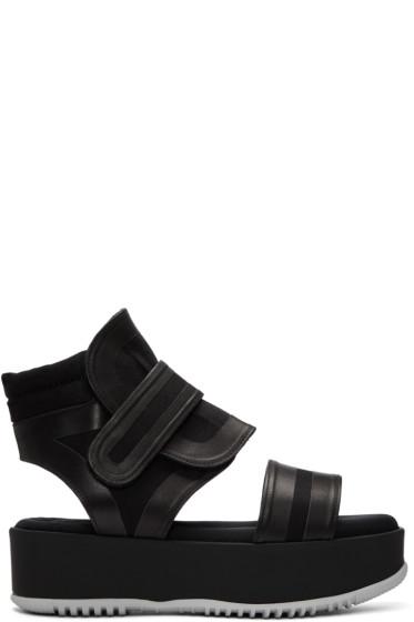 Marni - Black Velcro Platform Sandals