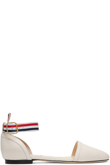 Thom Browne - Off-White D'Orsay Ballerina Flats