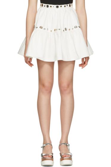 Kenzo - White Denim Eyelet Skirt