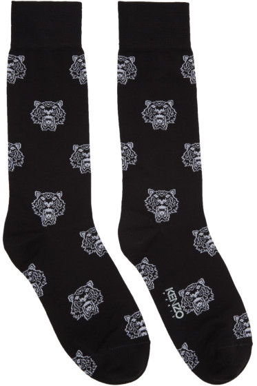 Kenzo - Black Allover Tiger Socks