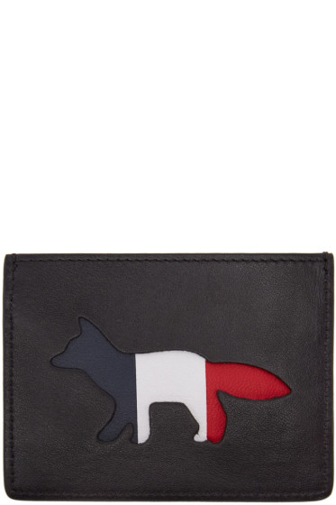 Maison Kitsuné - Black Tricolor Fox Card Holder