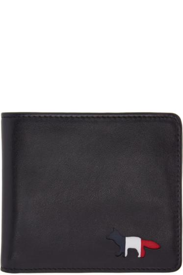 Maison Kitsuné - Black Tricolor Fox Wallet