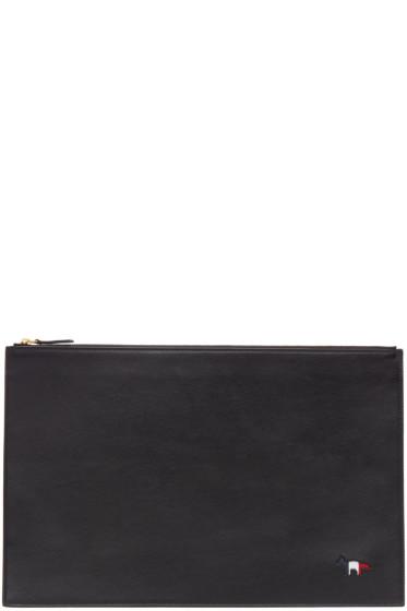 Maison Kitsuné - Black Tricolor Fox Document Holder