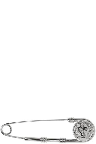Versus - Silver Safety-Pin Brooch