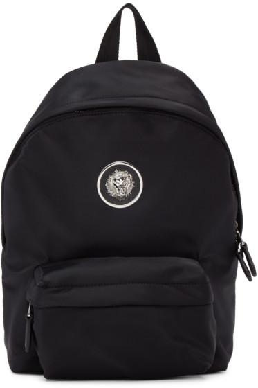Versus - Black Nylon Lion Backpack