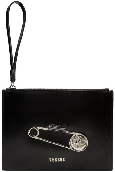 Versus - Black Safety Pin Pouch