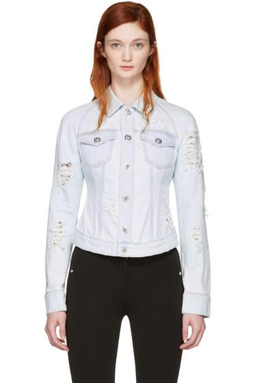 Versus - Blue Distressed Denim Jacket