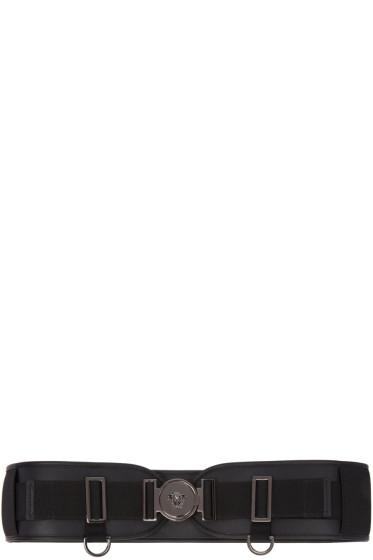Versace - Black Wide Medusa Belt