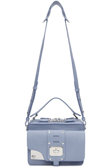 Versace - Blue Medium Stardust Satchel
