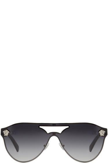 Versace - Grey Pilot Sunglasses