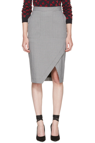 Altuzarra - Black & White Gingham Wilcox Skirt