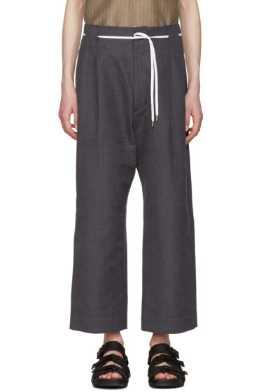 Sasquatchfabrix - Brown & Navy Striped 50's Trousers