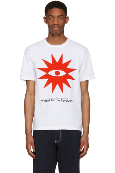 Undercover - White 'Waiting For The Revolution' T-Shirt