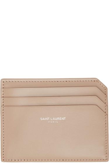 Saint Laurent - Beige Fragments Credit Card Holder