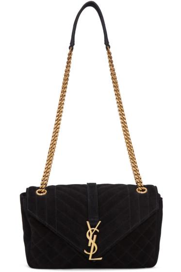 Saint Laurent - Black Medium Monogram Classic Bag