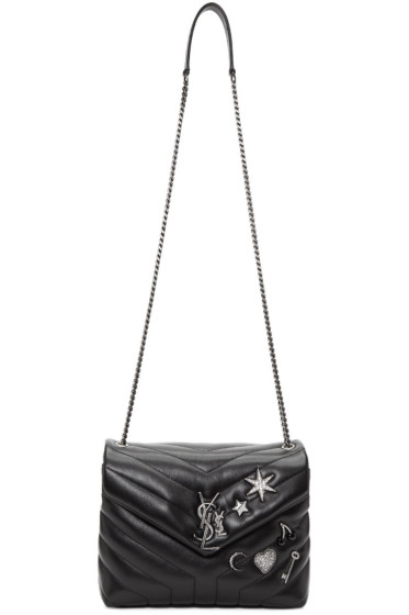 Saint Laurent - Black Small Monogram Soft Chain Bag