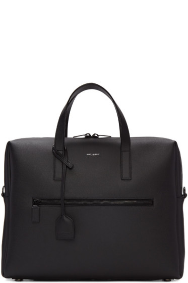 Saint Laurent - Black Leather Briefcase