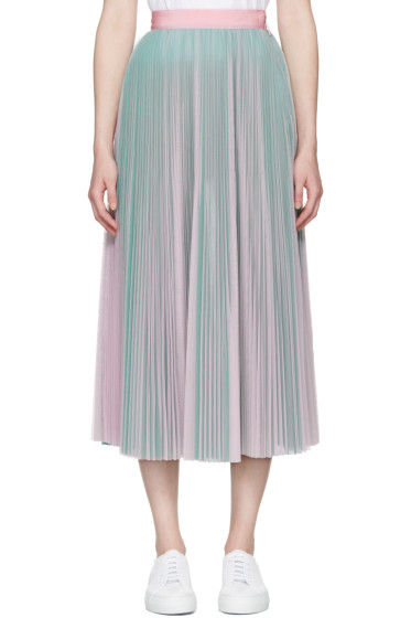 MSGM - Pink & Green Tulle Skirt