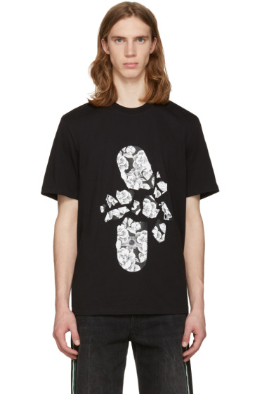 MSGM - Black Broken Skateboard T-Shirt