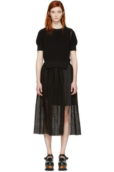 Sacai - Black Dot Lace Dress