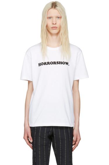 Sacai - White 'Horrorshow' T-Shirt