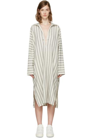 6397 - Beige Summer Kaftan Dress