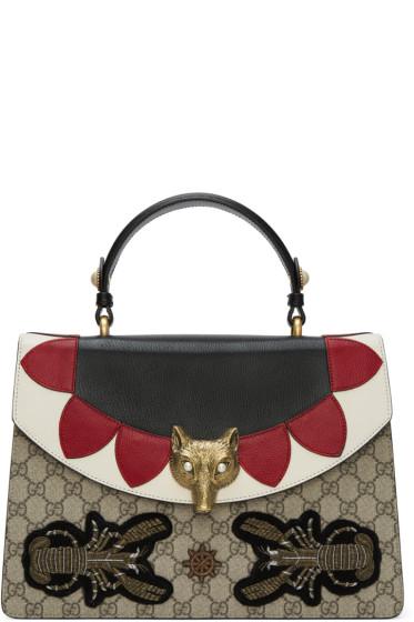 Gucci - Multicolor Medium GG Supreme Broche Bag