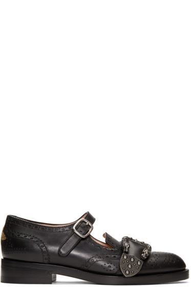 Gucci - Black Queercore Mary Jane Brogues