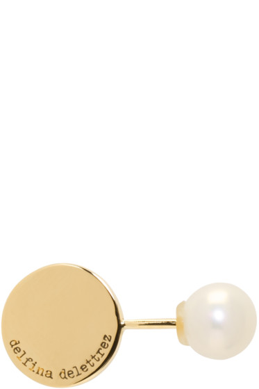 Delfina Delettrez - Gold ABC Pearl Earring