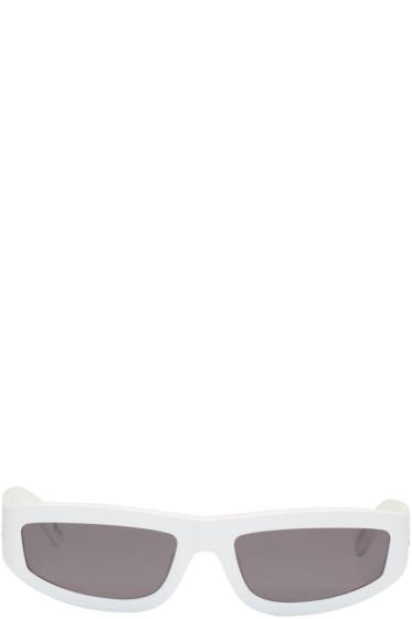 Stella McCartney - White Rectangular Slim Sunglasses