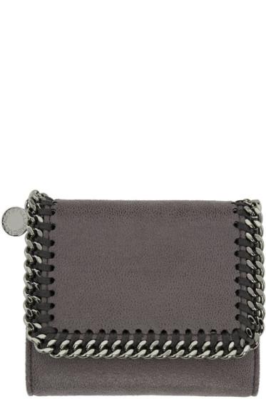 Stella McCartney - Grey Falabella Small Flap Wallet