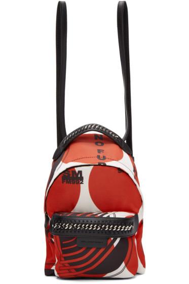 Stella McCartney - Red 'Thanks Girls' Mini Falabella GO Backpack