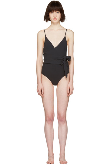 Stella McCartney - Black Wrap Timeless Swimsuit