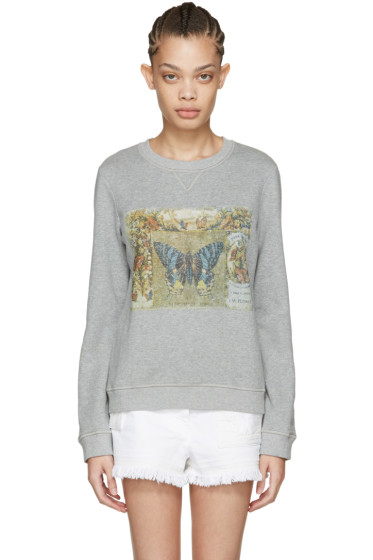 Valentino - Grey Vintage Butterfly Pullover