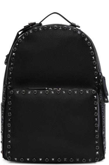 Valentino - Black Stone & Rockstud Backpack