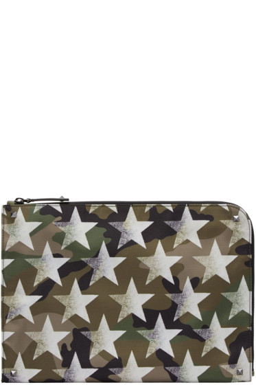 Valentino - Green Shaded Star Pouch