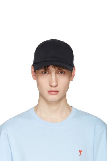 AMI Alexandre Mattiussi - Navy Cotton Cap
