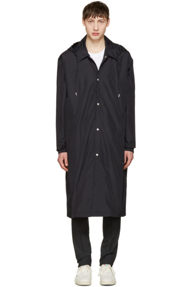 AMI Alexandre Mattiussi - Black Long Nylon Raincoat