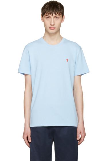 AMI Alexandre Mattiussi - Blue 'Ami de Coeur' T-Shirt