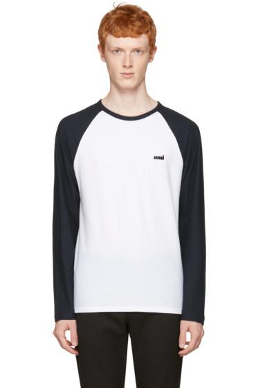 AMI Alexandre Mattiussi - Navy Baseball T-Shirt