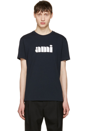 AMI Alexandre Mattiussi - Navy Logo T-Shirt