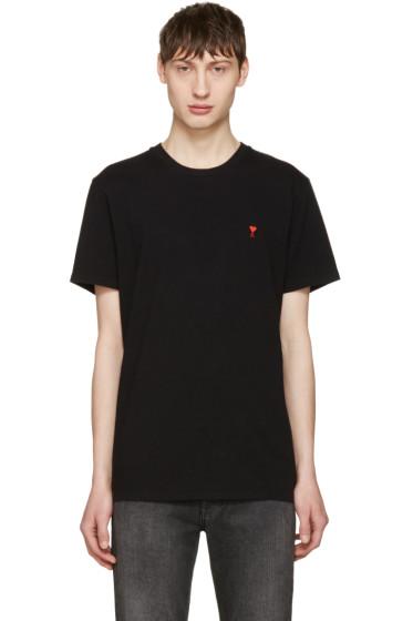 AMI Alexandre Mattiussi - Black 'Ami de Coeur' T-Shirt