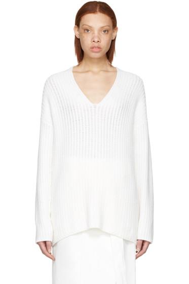 Calvin Klein Collection - White Cashmere Etienne Sweater